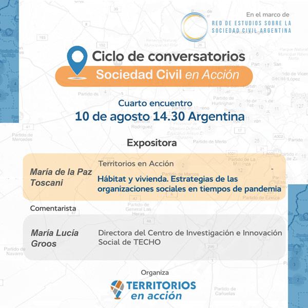 Ciclo de conversatorios La Sociedad Civil en Acción –  CUARTO Encuentro