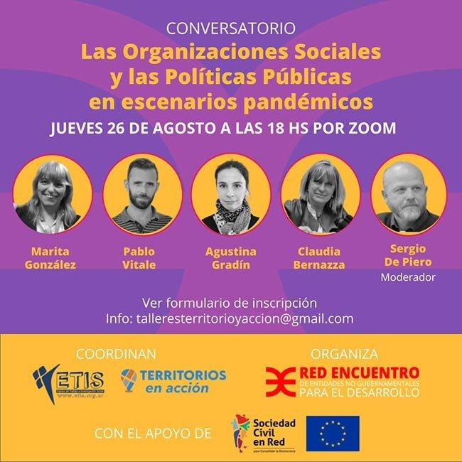 LAS  ORGANIZACIONES SOCIALES Y LAS POLÍTICAS PÚBLICAS EN ESCENARIOS PANDÉMICOS