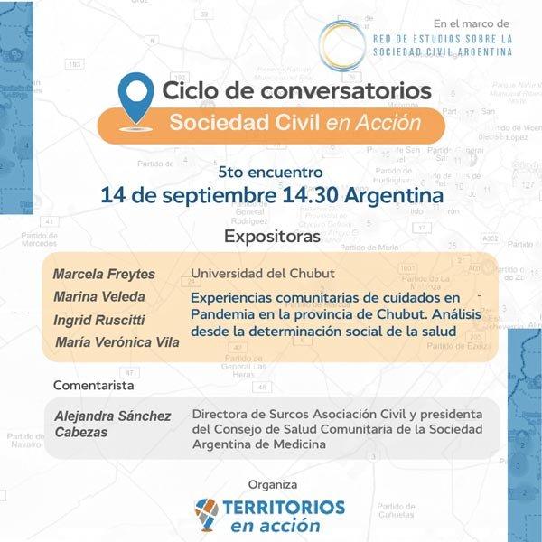 Quinto encuentro del ciclo de conversatorios La Sociedad Civil en acción
